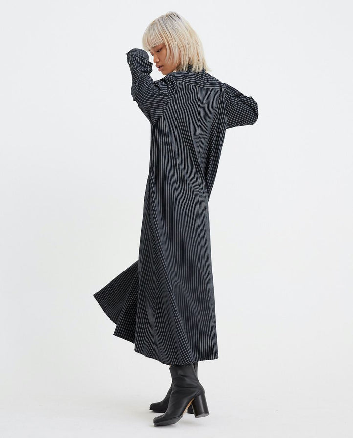 Pinstripe Shirt Dress - Black UNISEX MM6 MAISON MARGIELA