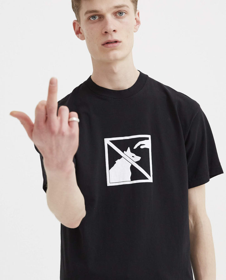 Please Don't Pet Tee - Black MENS ASAP NAST X PANGEA