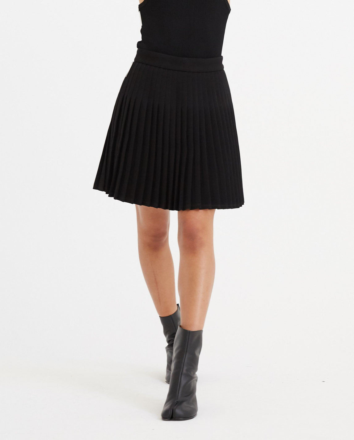 Pleated Mini Skirt - Black UNISEX PETER DO