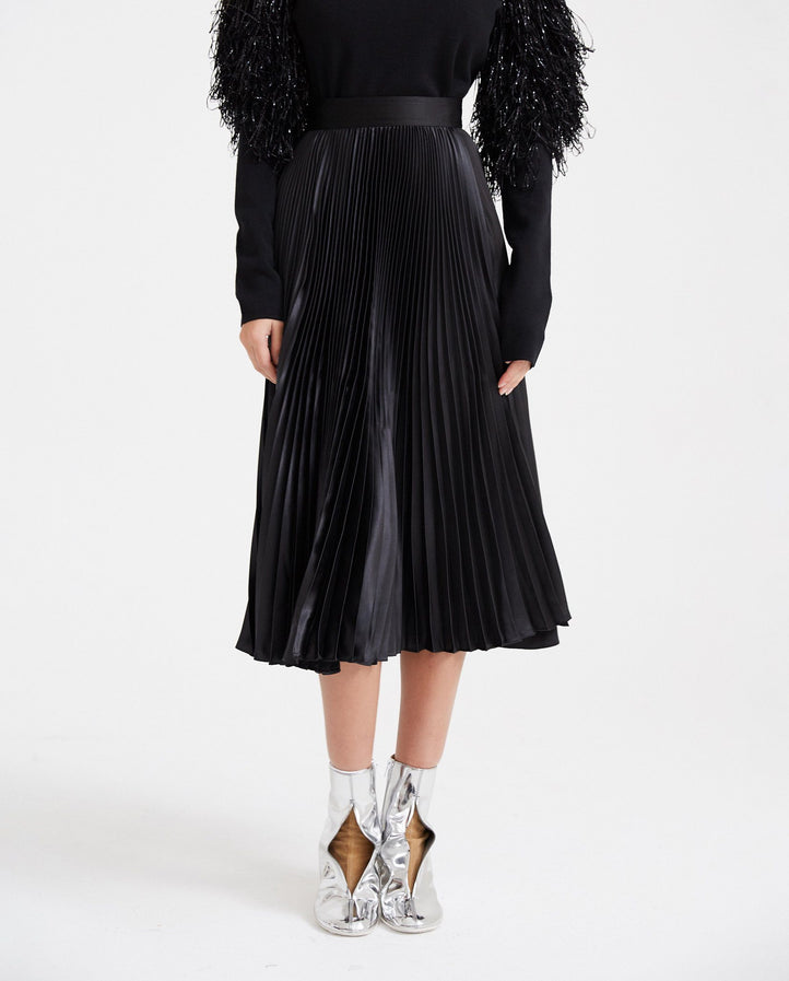 Pleated Skirt - Black WOMENS JW ANDERSON