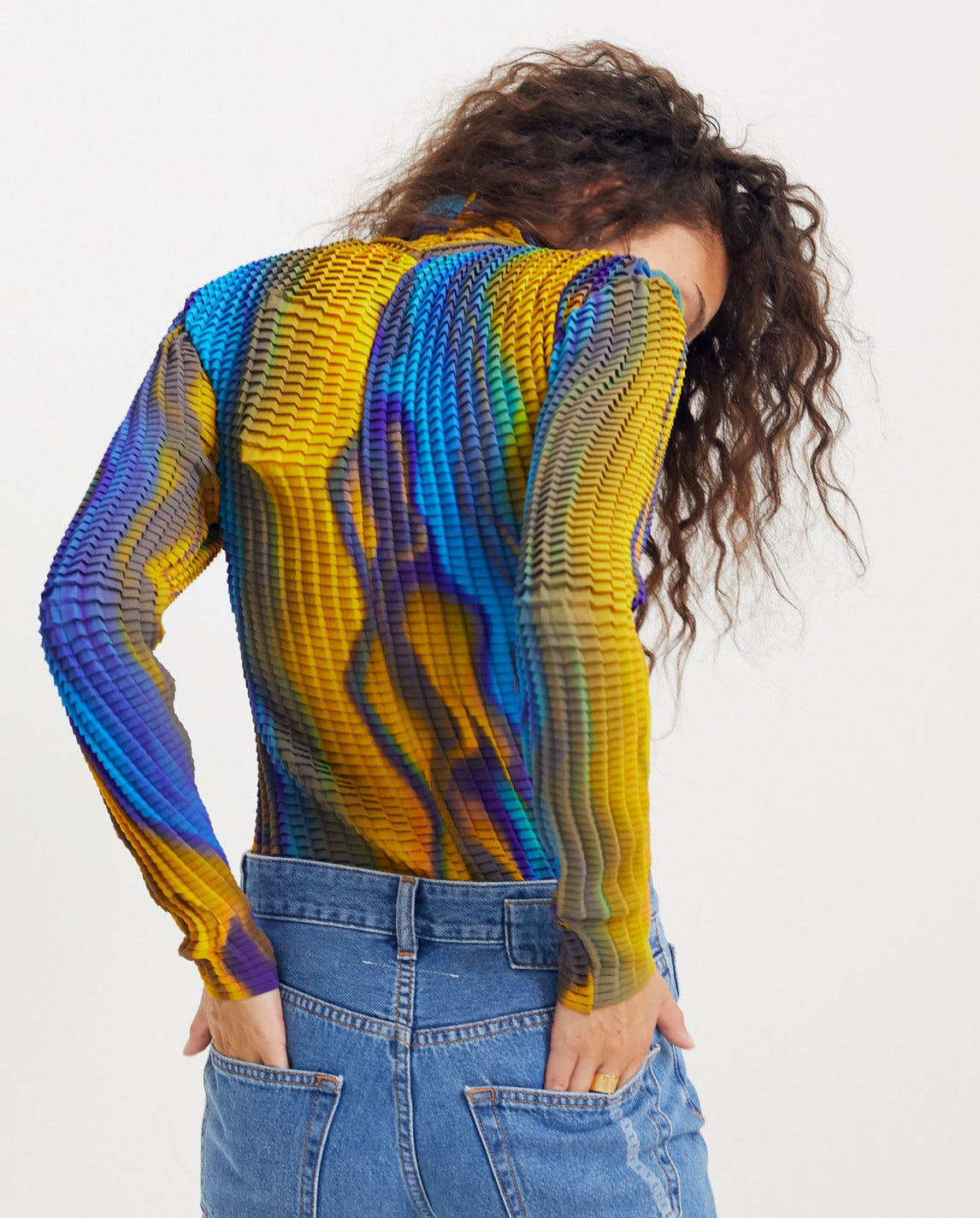Pleated Top - Yellow / Blue UNISEX GOOMHEO
