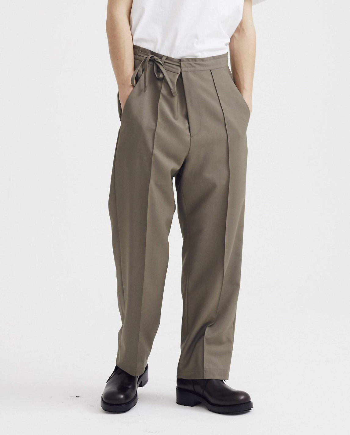 Pleated Trouser - Khaki MENS MAISON MARGIELA