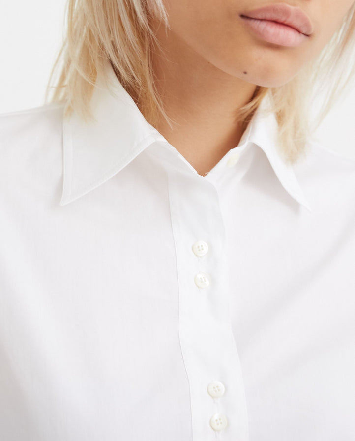 Poplin Shirt - White WOMENS MAISON MARGIELA