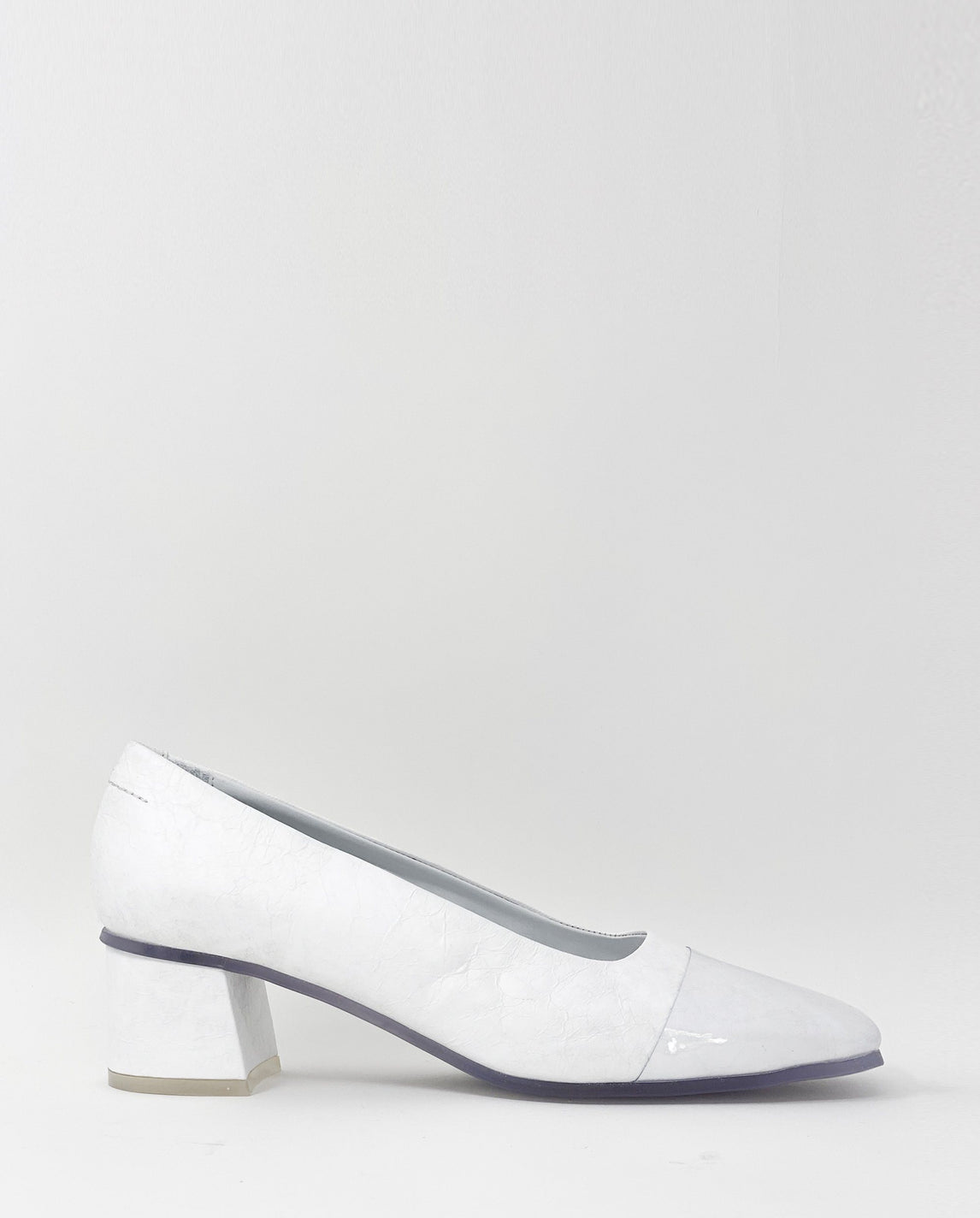 PVC Toecap Pump - White WOMENS MM6 MAISON MARGIELA