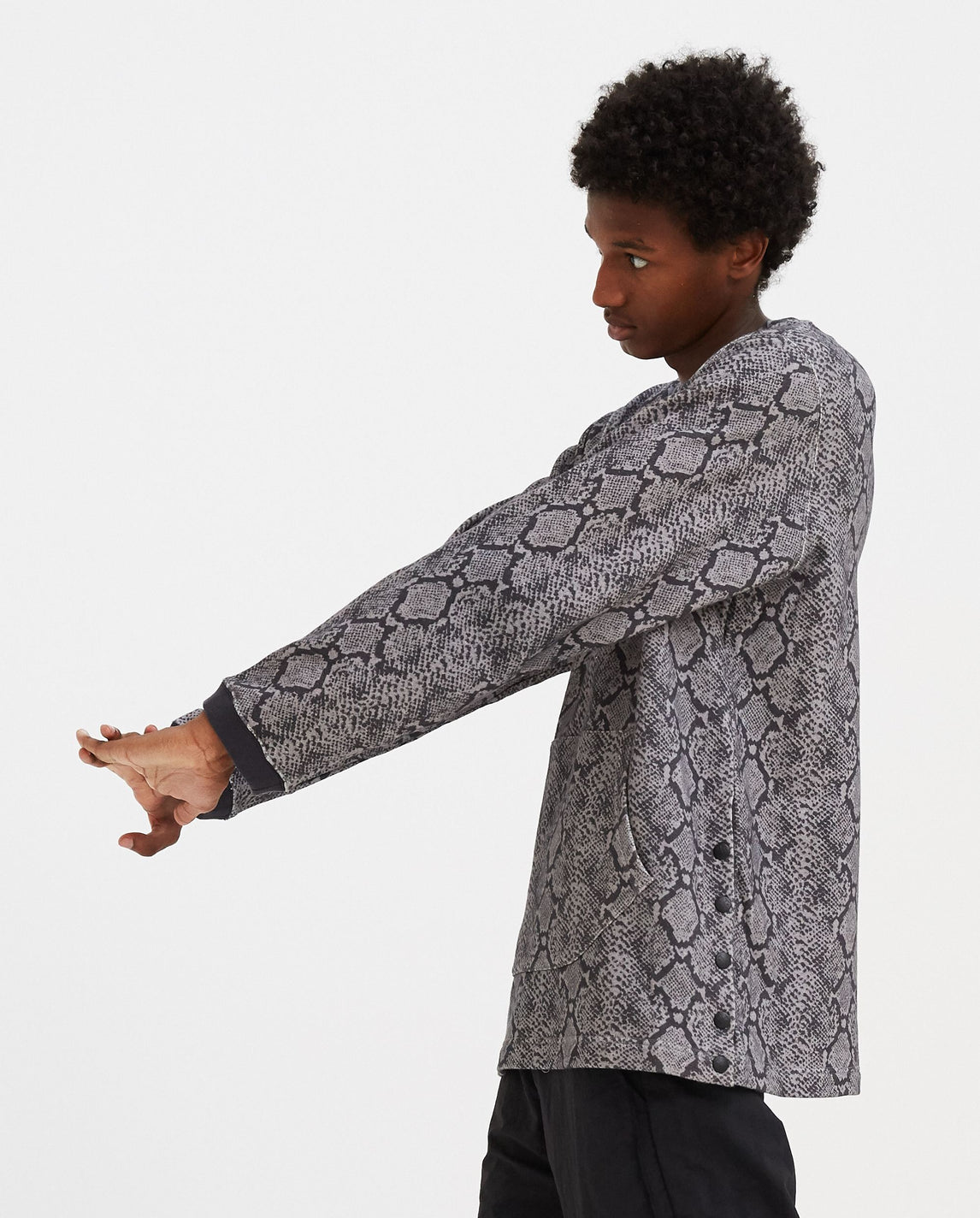 Python Printed Sweatshirt - Grey MENS WHITE MOUNTAINEERING