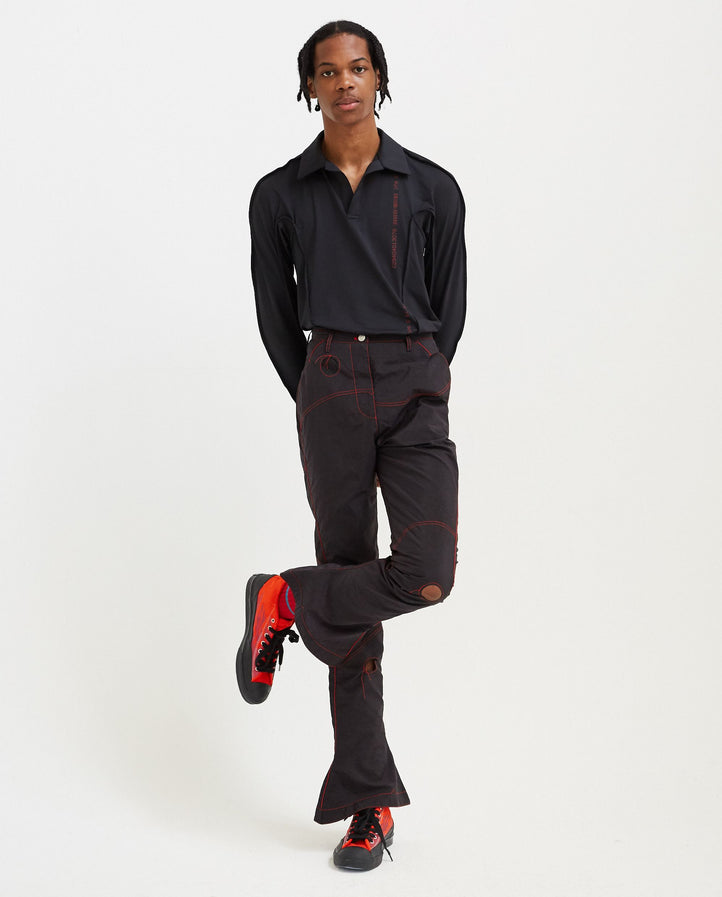 Readymade Airbag Patched Flare Trouser - Black UNISEX KANGHYUK