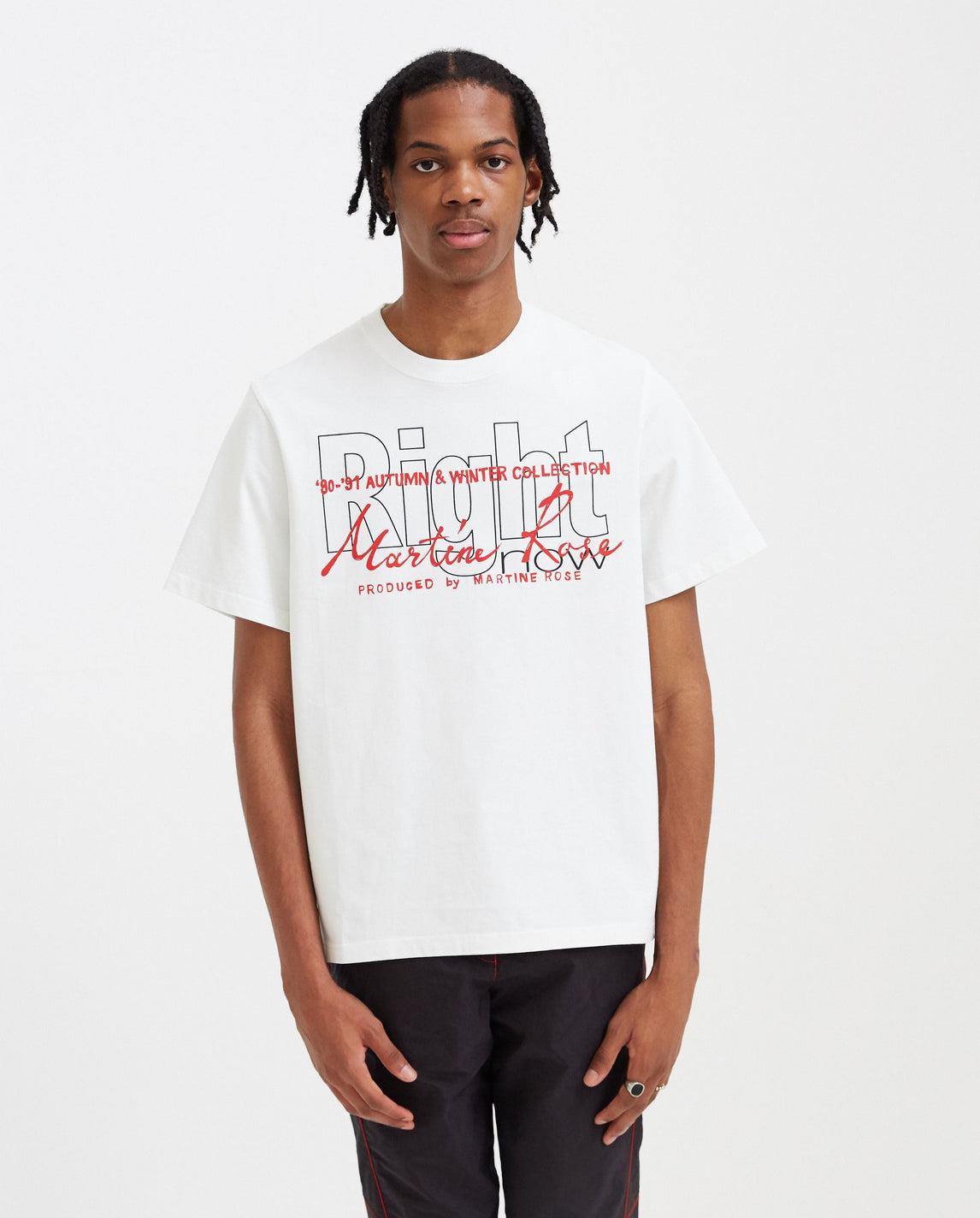 Right T-Shirt - White MENS MARTINE ROSE