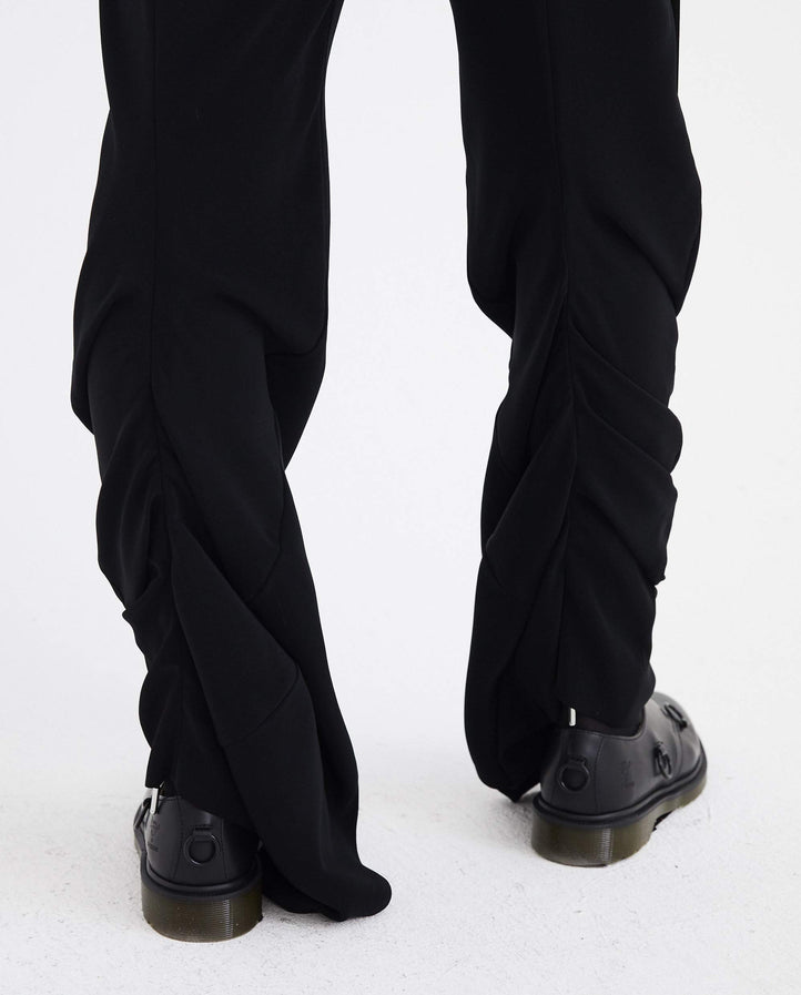 Ruffle Seam Pants - Black WOMENS Y/PROJECT