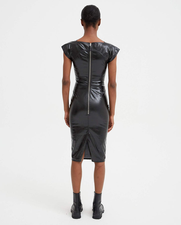 Sarah Zip-Up Dress - Black WOMENS RICK OWENS