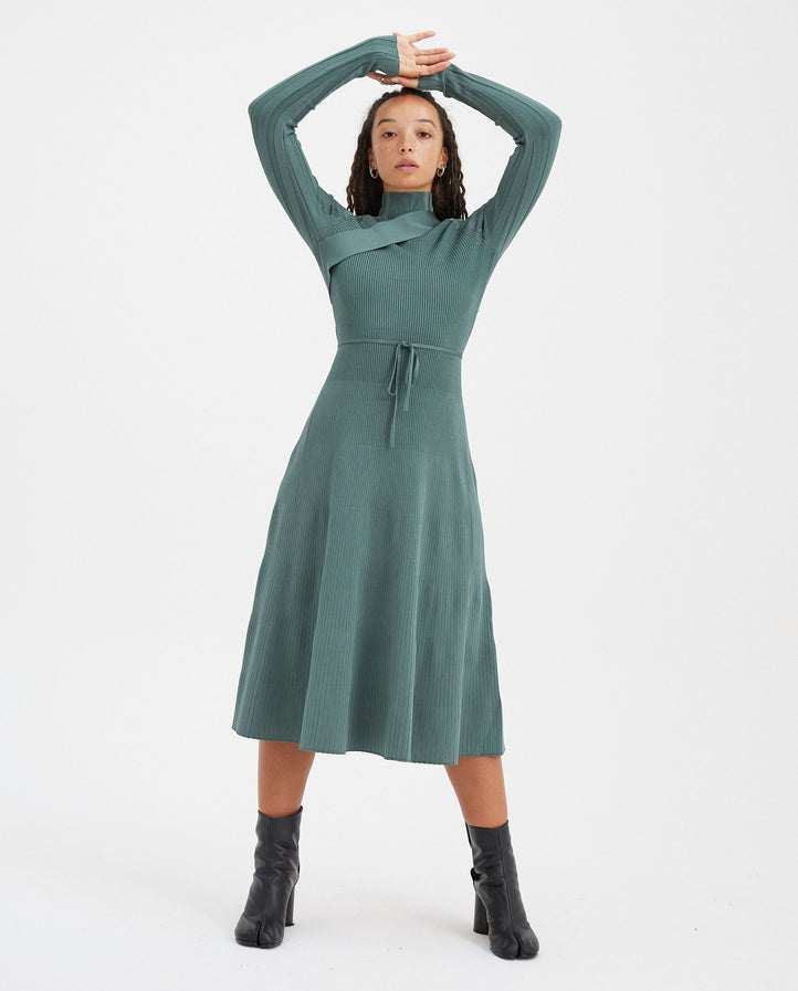 Seatbelt Dress - Beryl Green WOMENS PETER DO