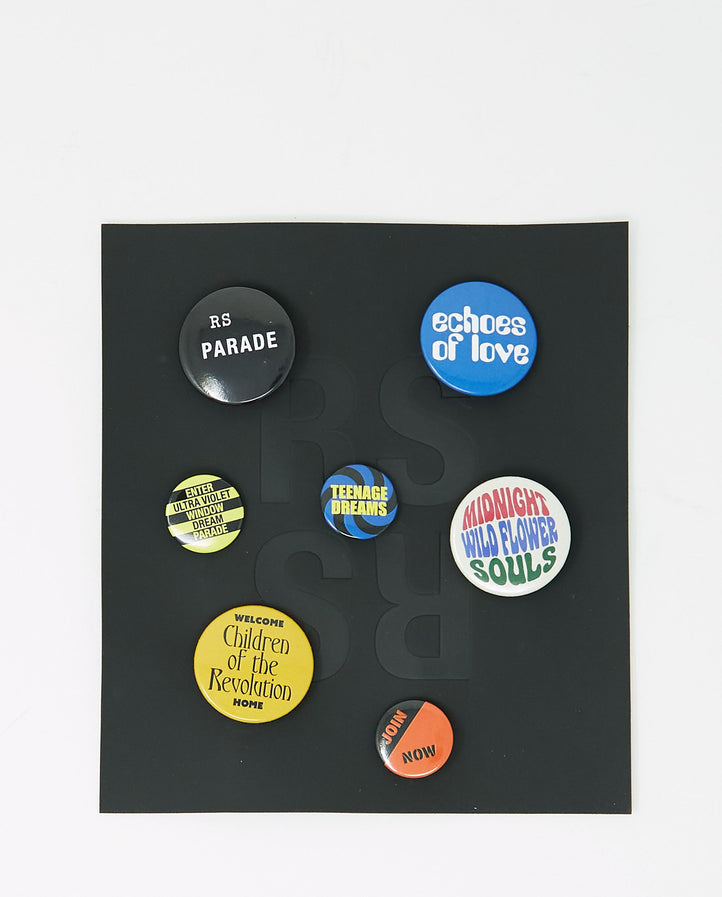 Set Of 7 Badges UNISEX RAF SIMONS