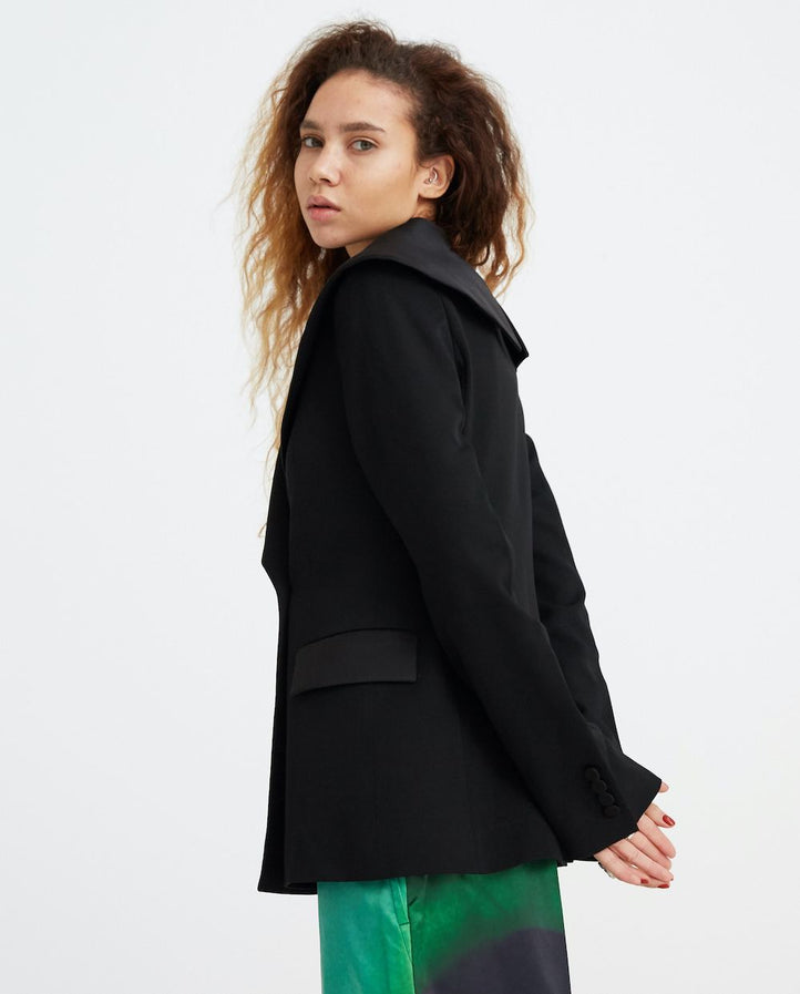 Shawl Collar Tuxedo Jacket - Black WOMENS JW ANDERSON