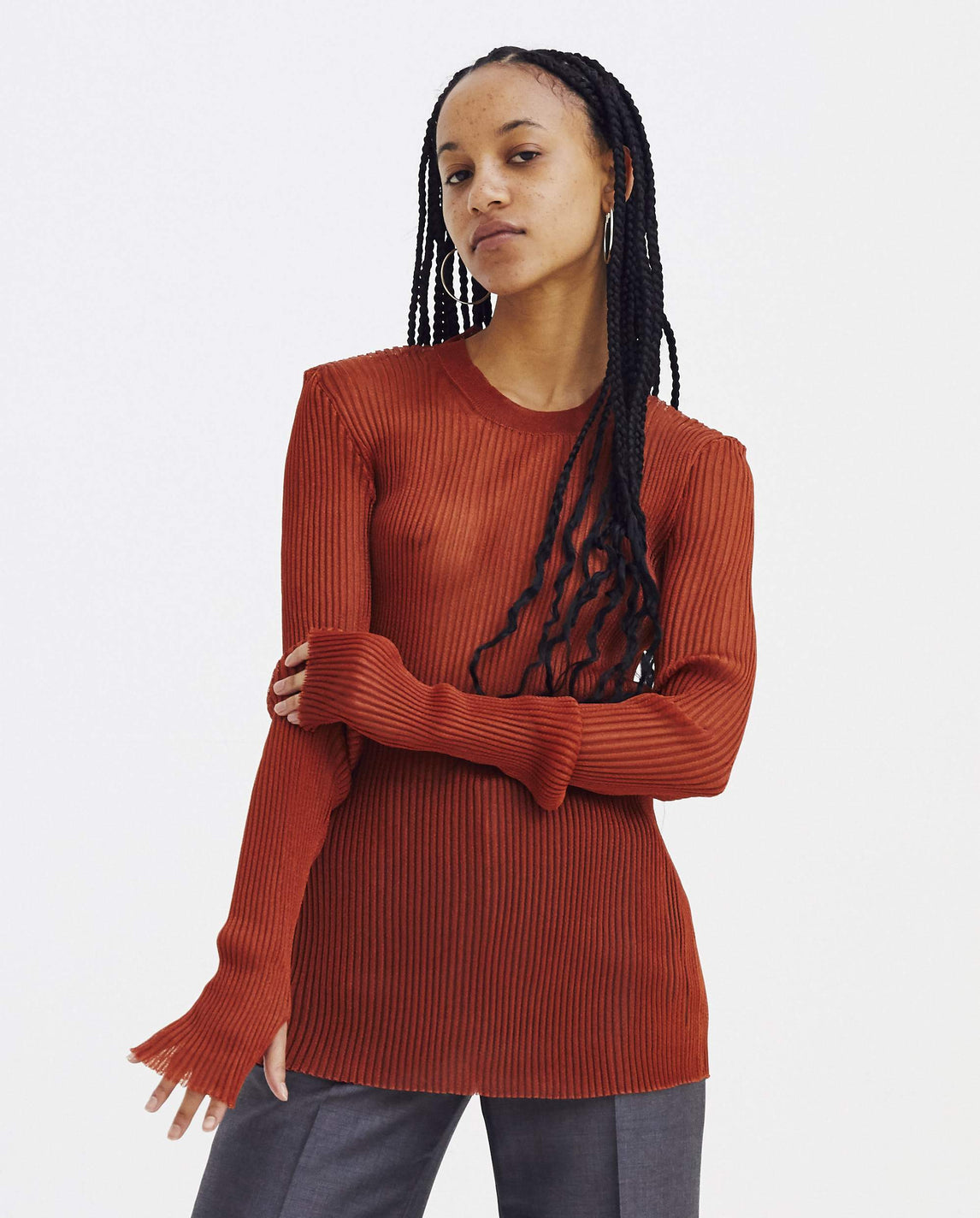 Sheer Pullover - Red WOMENS MAISON MARGIELA