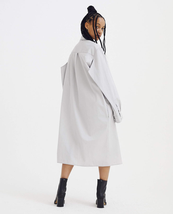 Shirt-Dress - Grey WOMENS MAISON MARGIELA