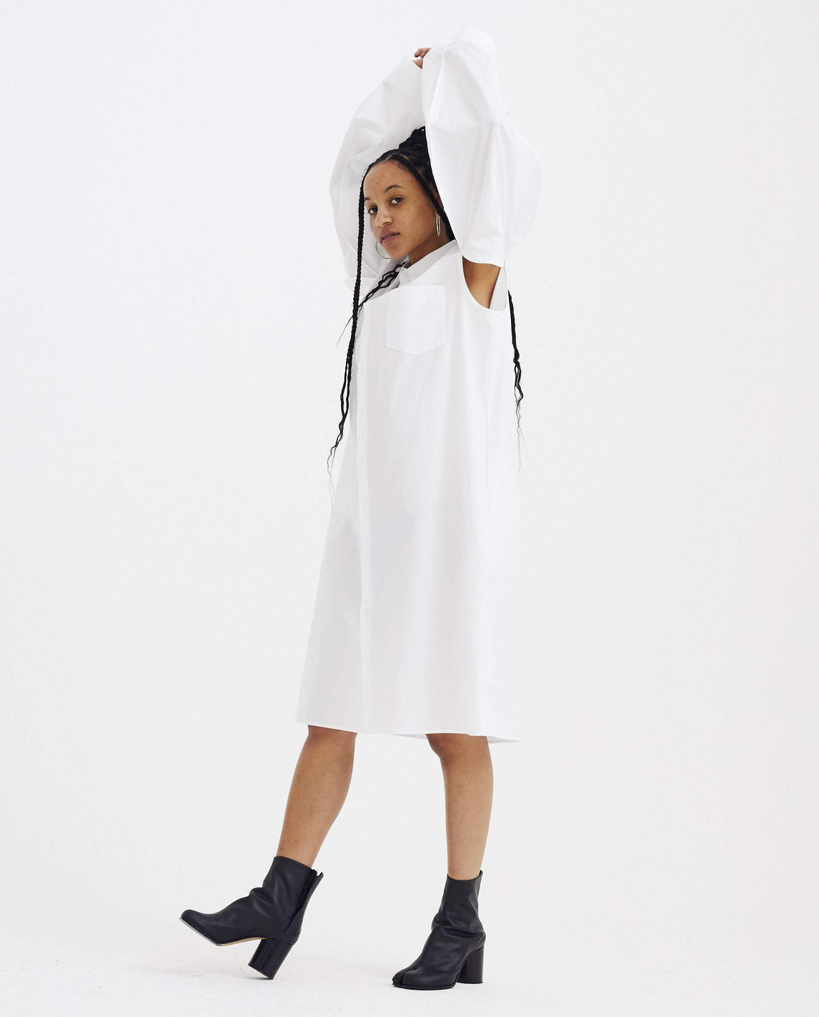 Shirt-Dress - White WOMENS MAISON MARGIELA