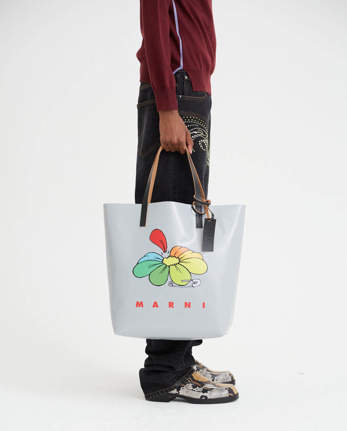 Shopping Tote Bag - Grey UNISEX MARNI