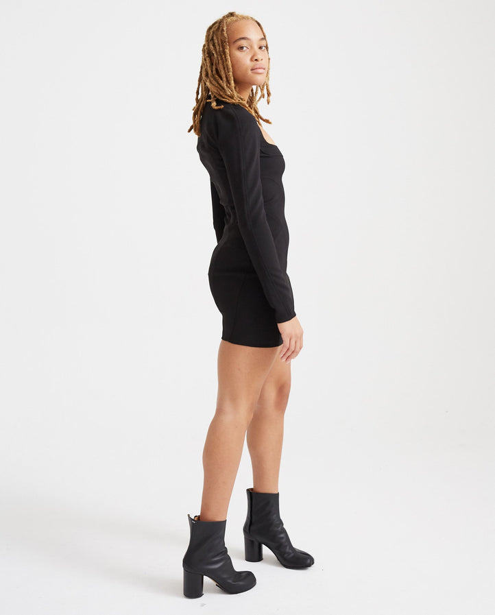 Short Dress - Black WOMENS MUGLER