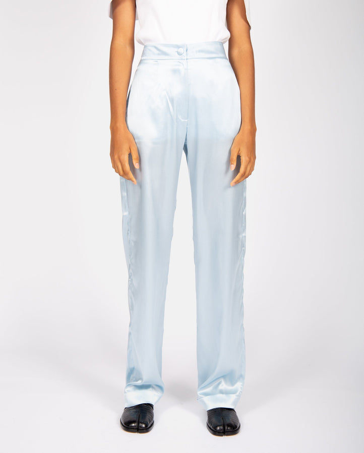 Silk Pyjama Pants - Light Blue UNISEX MATERIEL