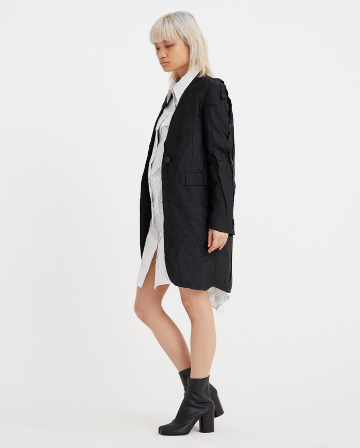 Single Breasted Coat - Black WOMENS MM6 MAISON MARGIELA