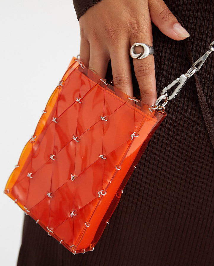 Sirius Mini Pochette - Orange WOMENS PACO RABANNE