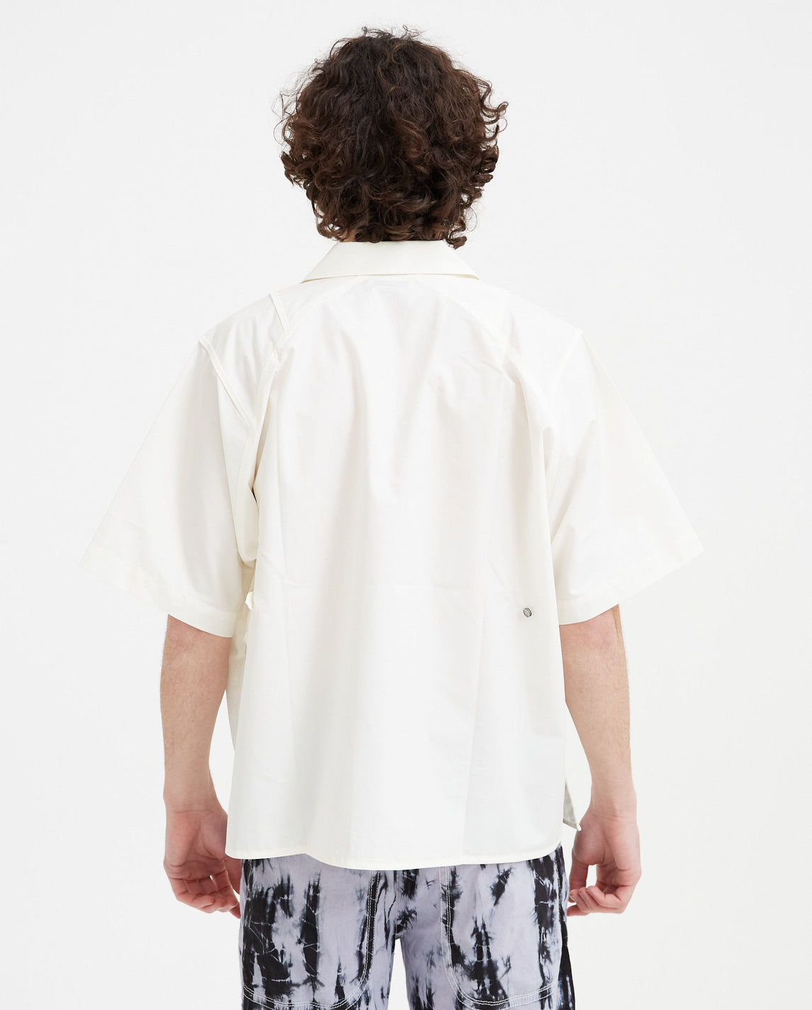 Slant Pockets Hawaiian Shirt - White UNISEX Pronounce