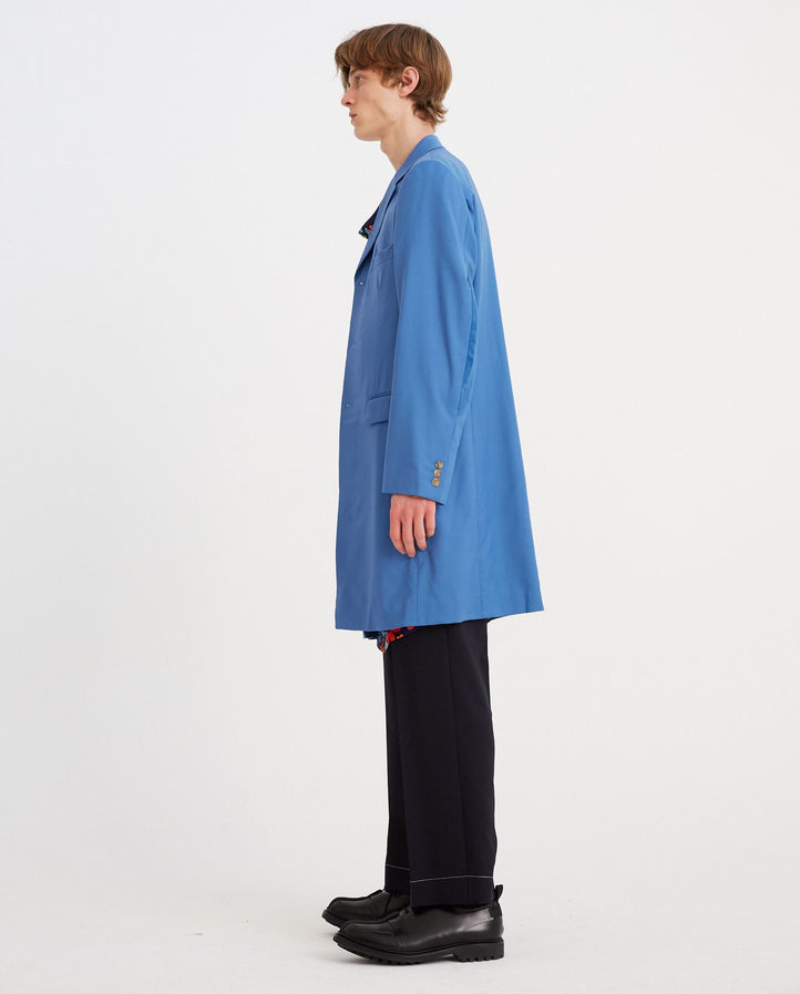 Sleeve Slit Blazer - Blue MENS HOMME PLUS
