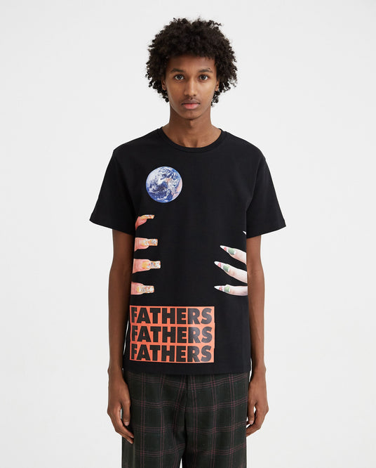 Slim Fit Short Sleeved T-Shirt With Graphic Nails - Black MENS RAF SIMONS