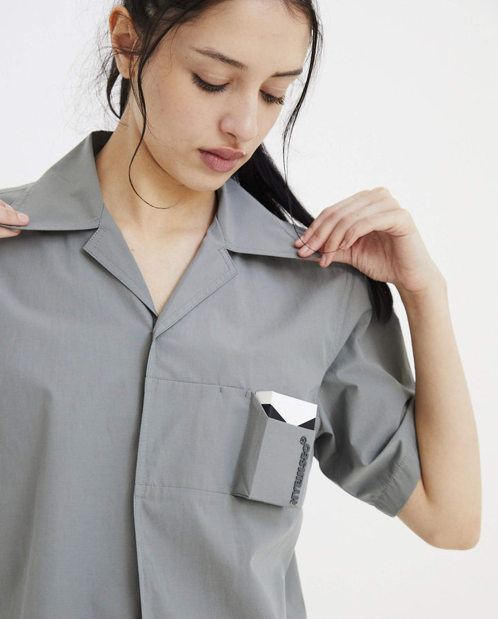 Smokers Shirt - Ash Green WOMENS HYEIN SEO