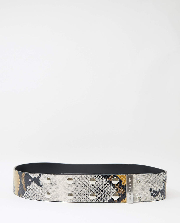 Snake-Skin Snap Belt - Brown UNISEX 1017 ALYX 9SM