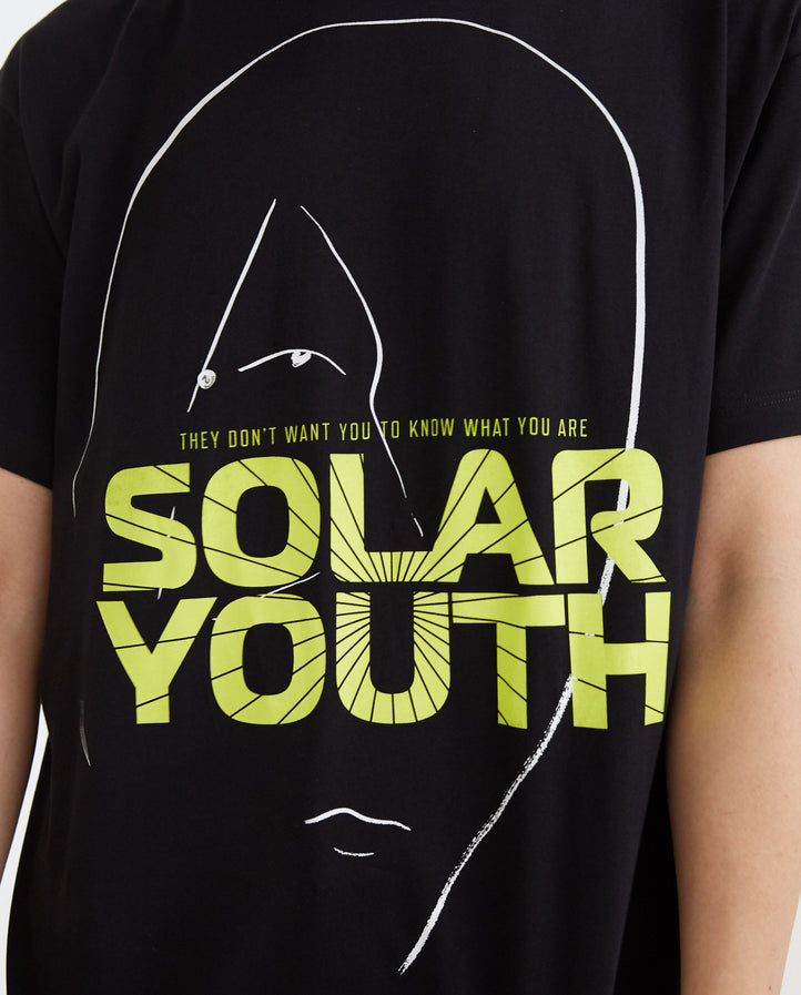 Solar Youth Big Fit T-Shirt - Black MENS RAF SIMONS