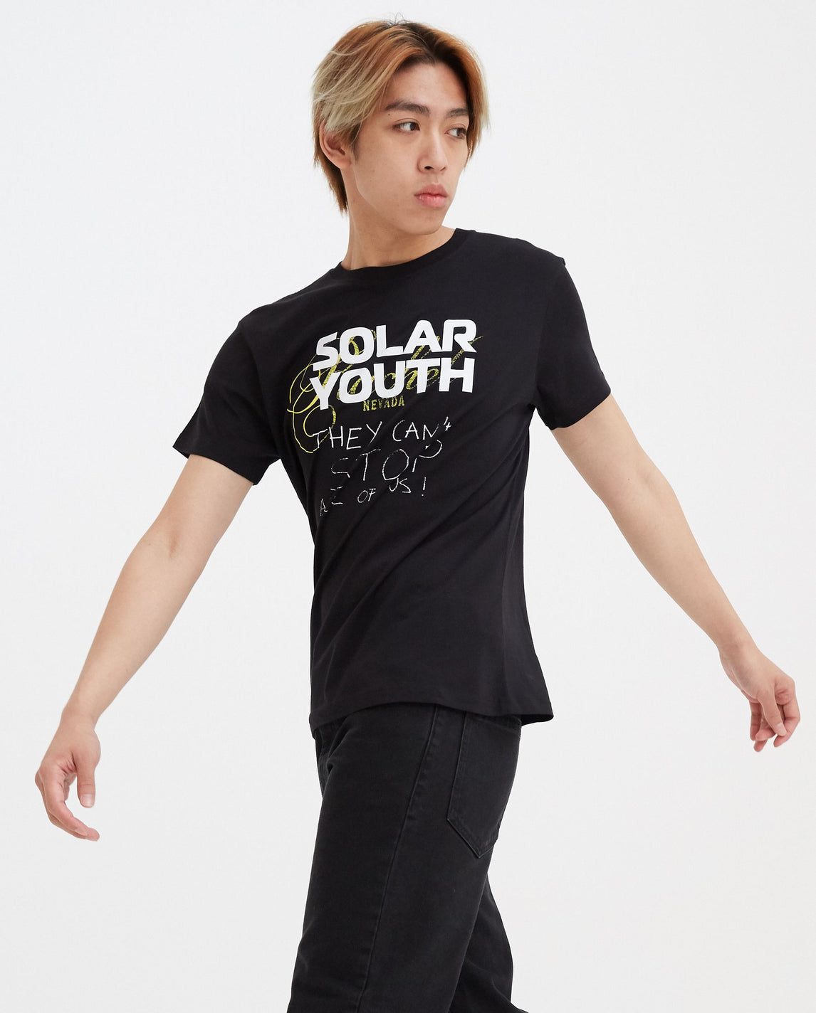 Solar Youth Regular Fit T-Shirt - Black MENS RAF SIMONS