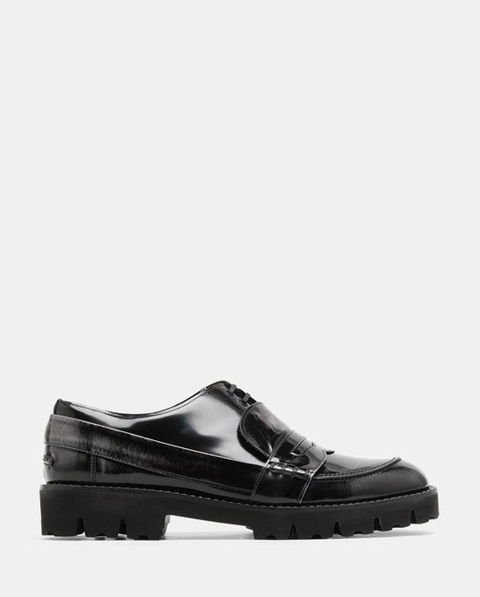 Spliced Moccasins - Black MENS MAISON MARGIELA