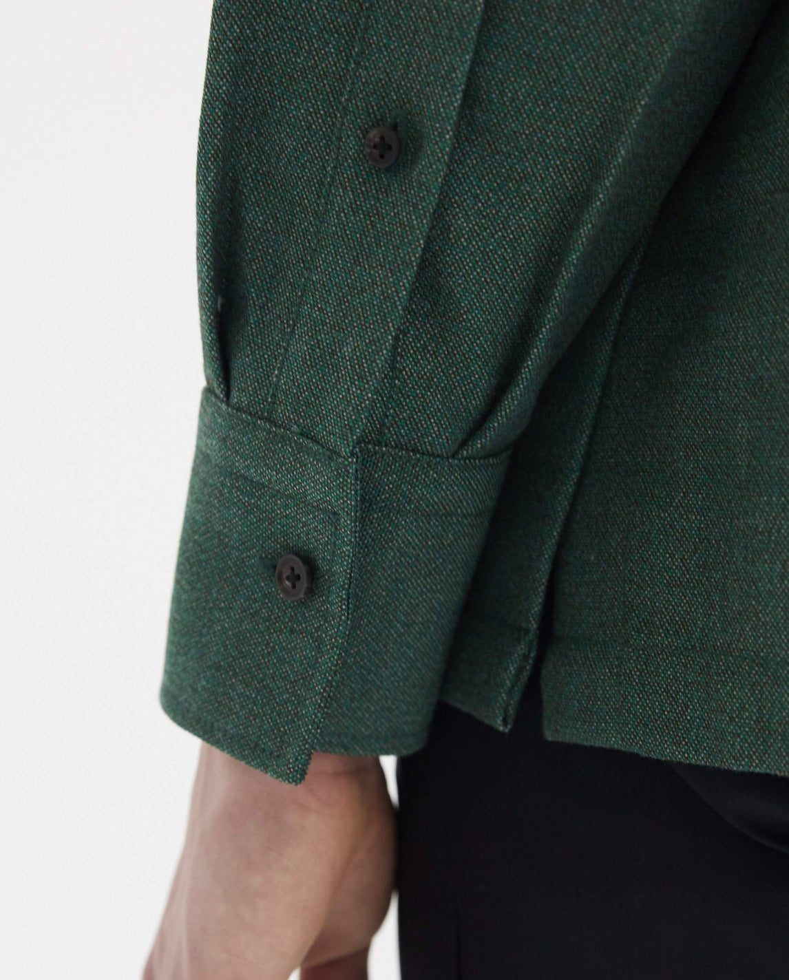 Square Overshirt - Green MENS KARMUEL YOUNG