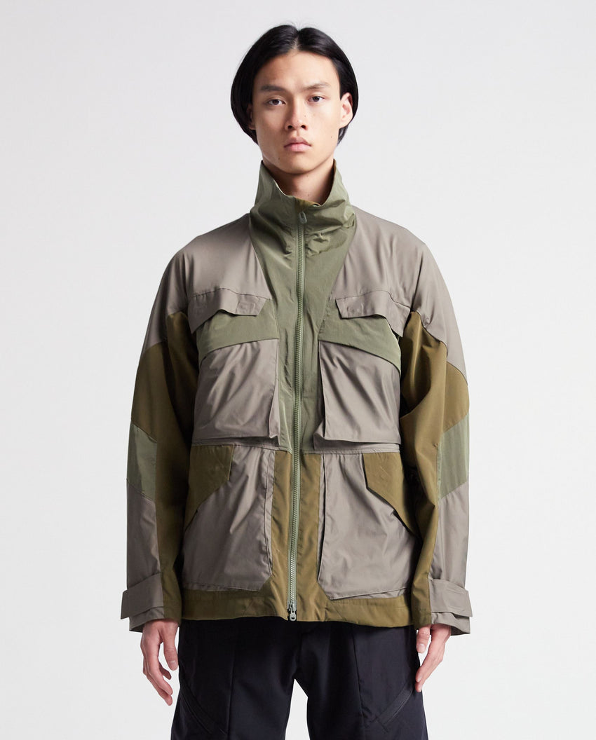 Stand Collar Jacket - Khaki MENS WHITE MOUNTAINEERING
