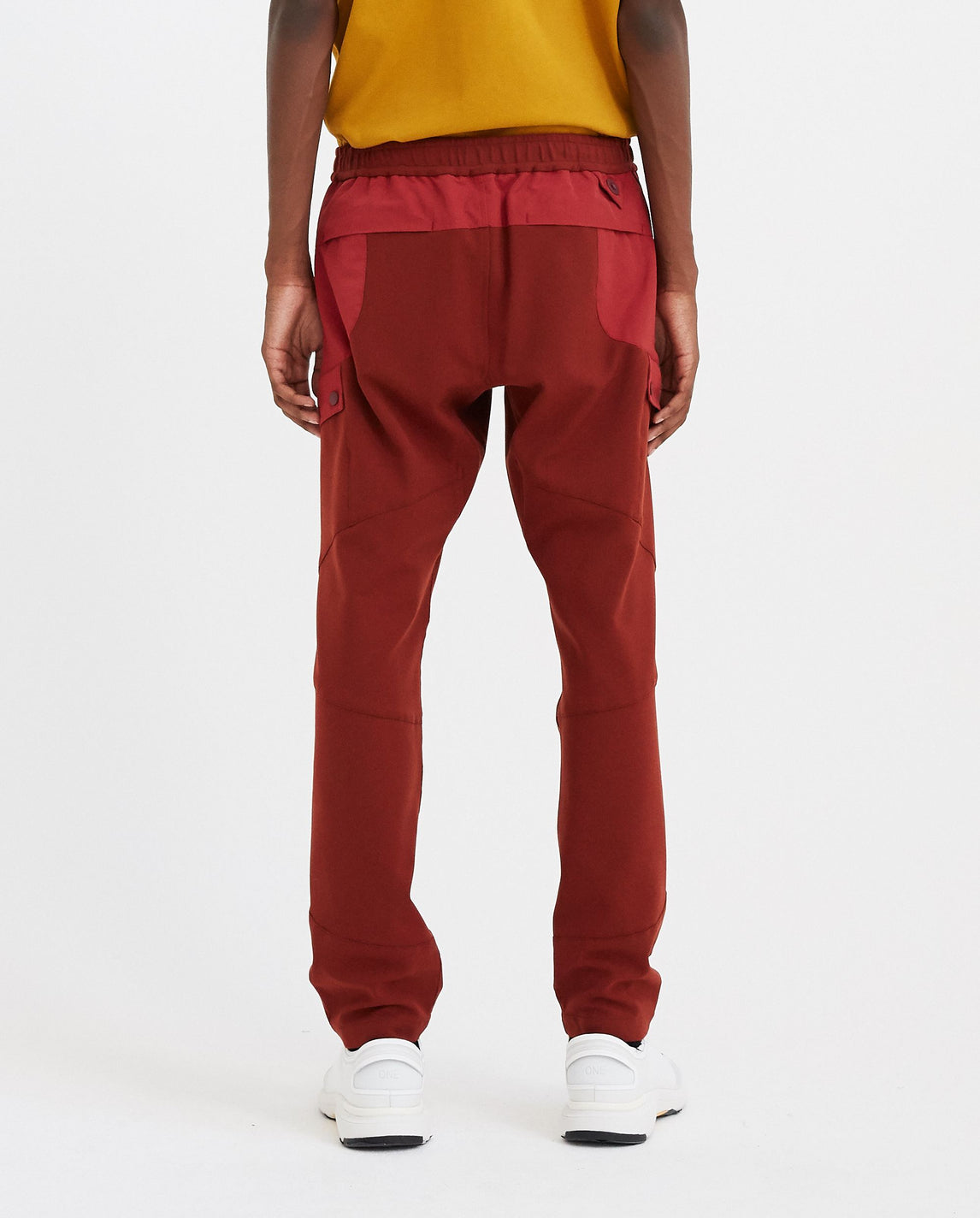 Stretched Twill Tapered Tech Pants - Burgundy / Red MENS WHITE MOUNTAINEERING