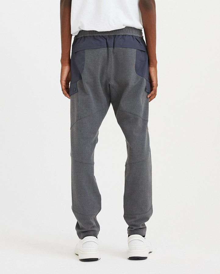 Stretched Twill Tapered Tech Pants - Grey / Blue MENS WHITE MOUNTAINEERING
