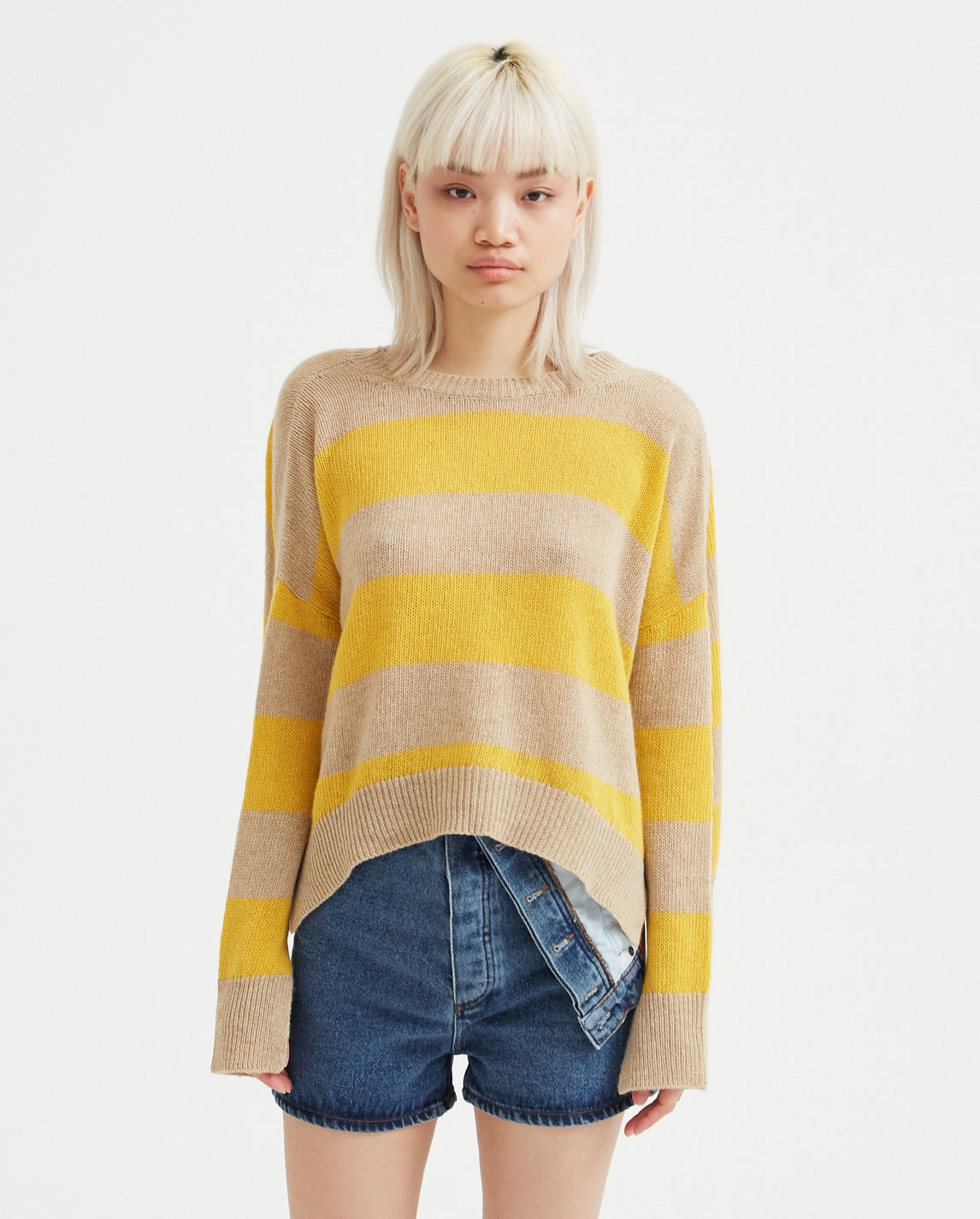 Striped Sweater - Yellow WOMENS MARNI