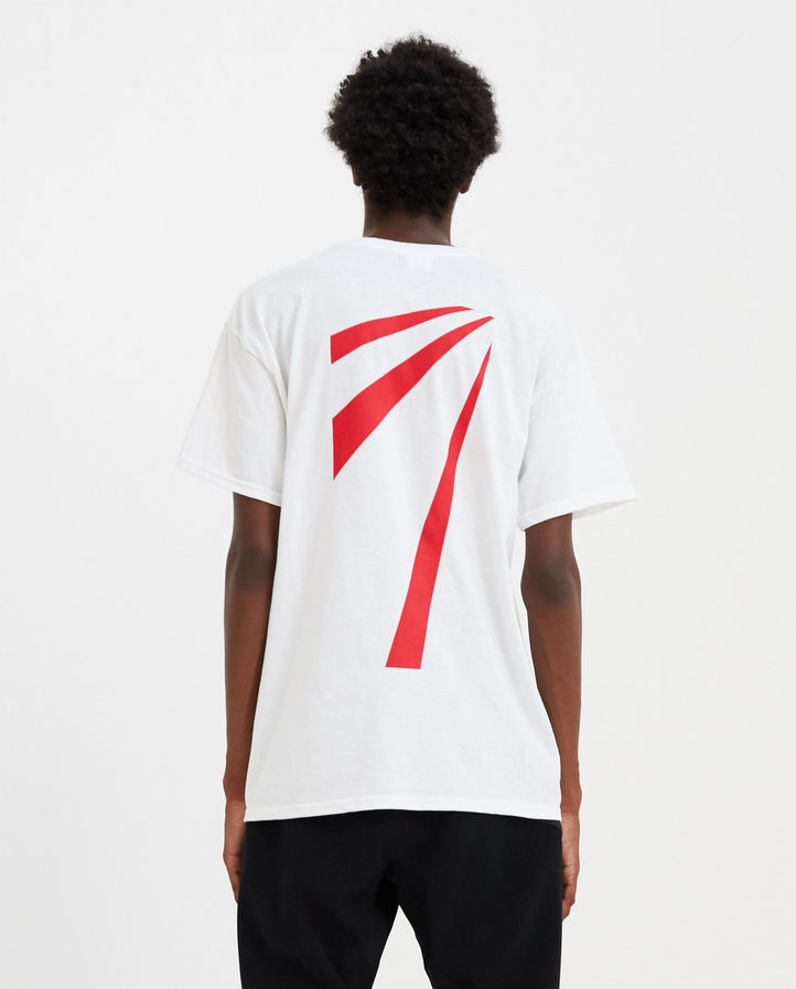 T-Hnks Graphic T-Shirt - White / Red MENS TAHNKS
