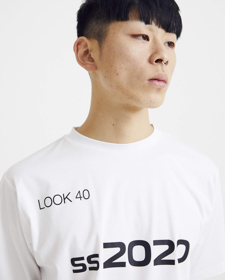 T-Shirt in SS20 Graphic - White MENS XANDER ZHOU