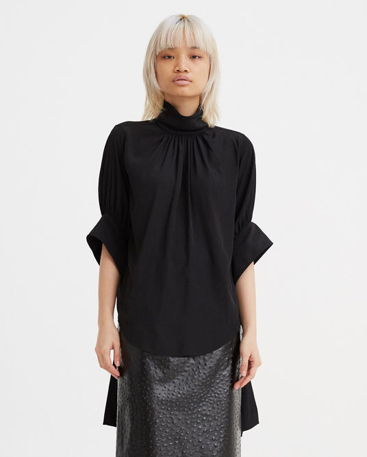 Tab Sleeve Top - Black WOMENS JW ANDERSON