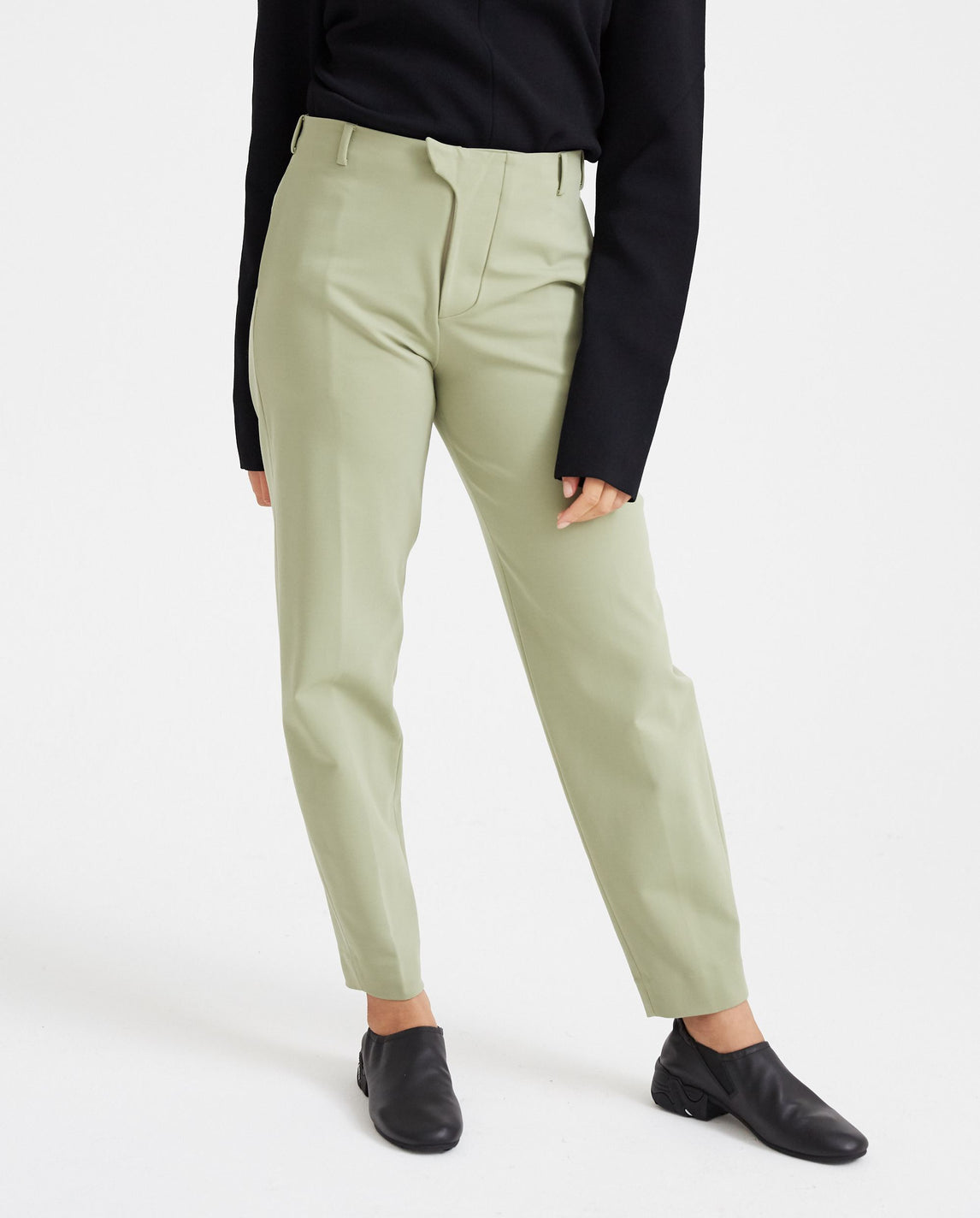 Tailored Jersey Trousers - Green WOMENS VEJAS