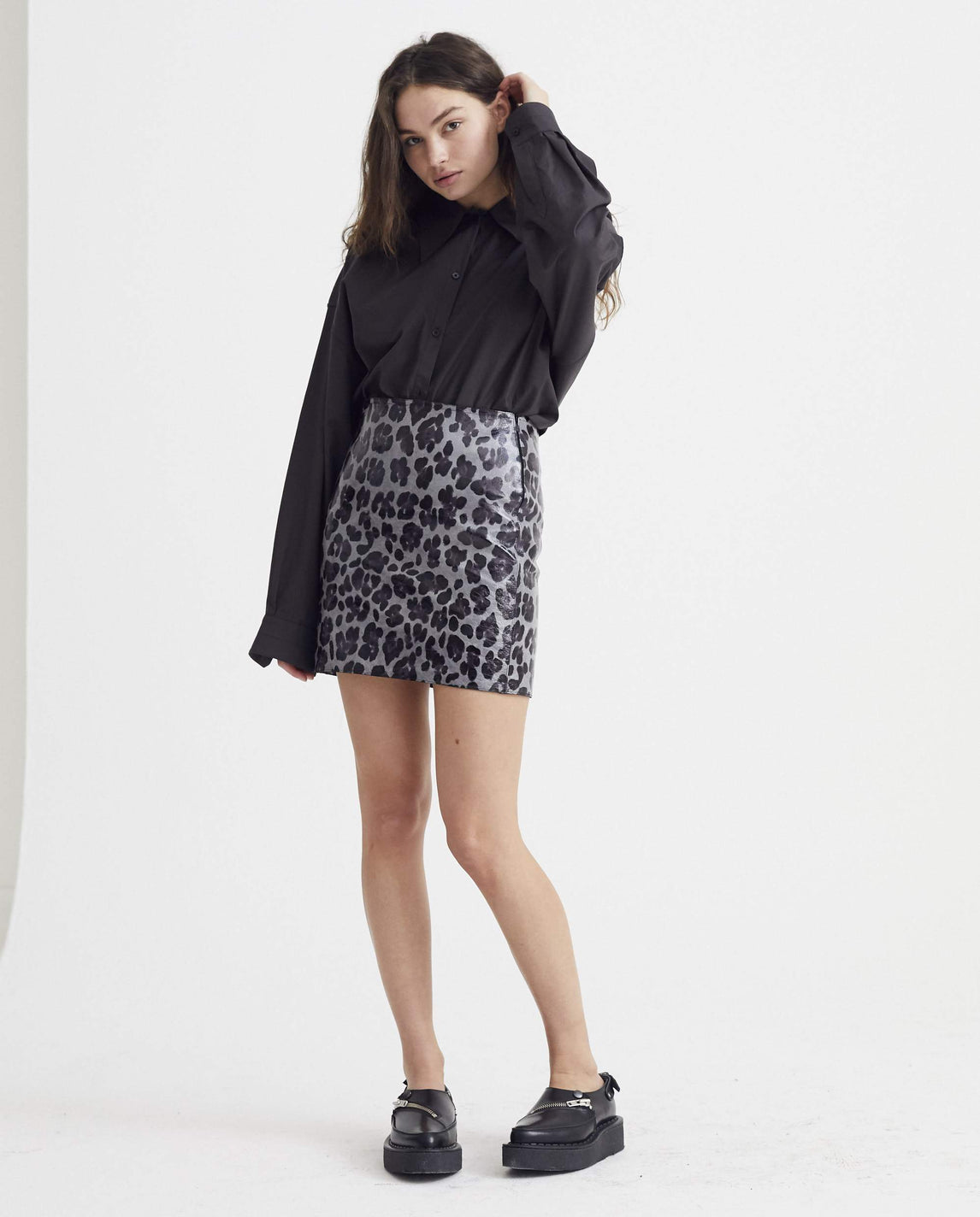 Tailored Mini Skirt - Grey and Black WOMENS ART SCHOOL
