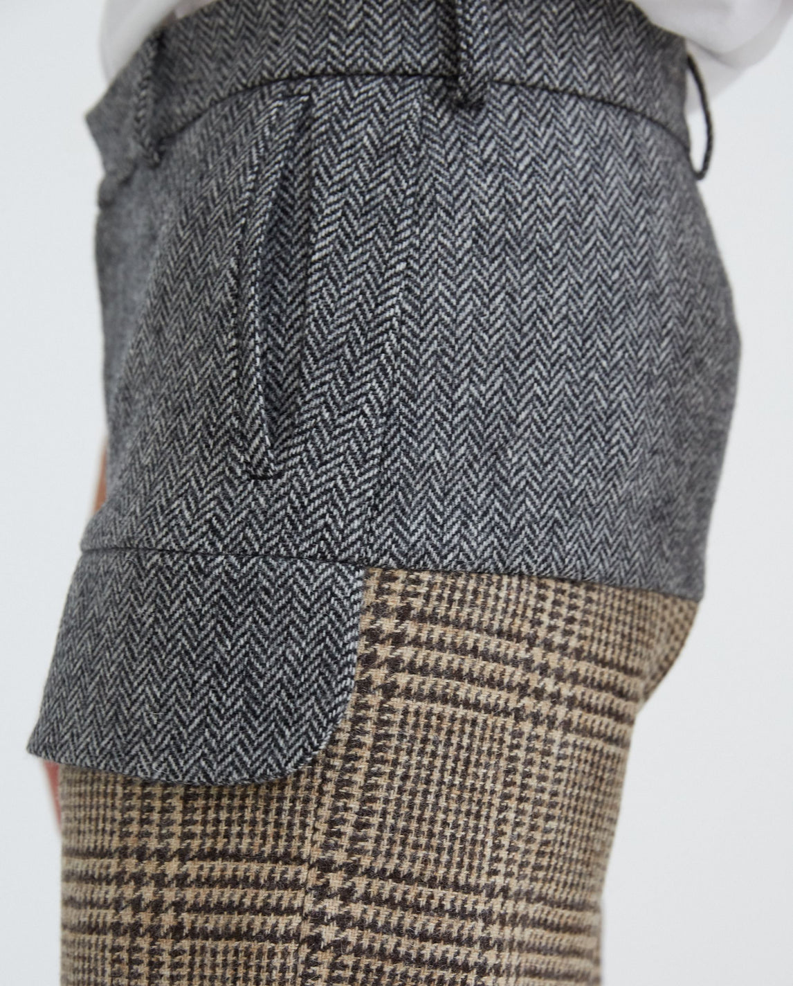 Tailored Trouser - Brown/Grey UNISEX STEFAN COOKE