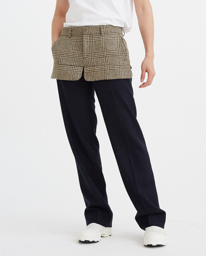 Tailored Trouser - Navy/Brown UNISEX STEFAN COOKE