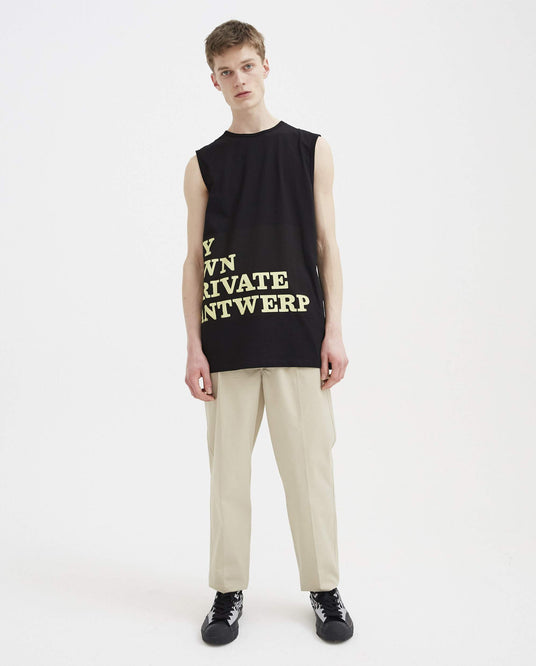 Tank Top My Own Private Antwerp - Black MENS RAF SIMONS