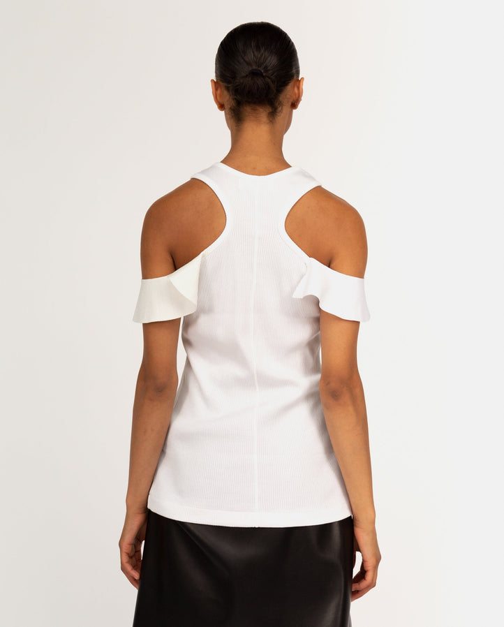 Tereko Tank Top With Ruffle - White WOMENS TOGA