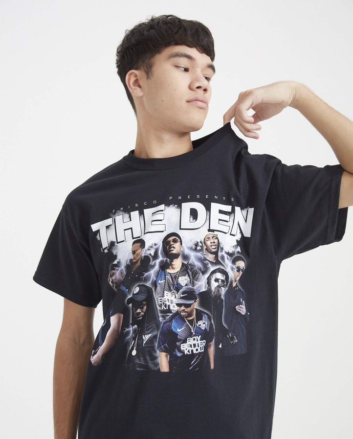 The Den T-Shirt - Black MENS HOMAGE TEES x BBK