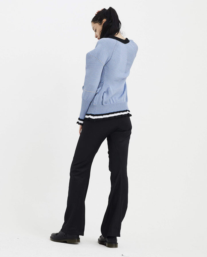 Topographic Cardigan - Blue/Grey WOMENS KIKO KOSTADINOV