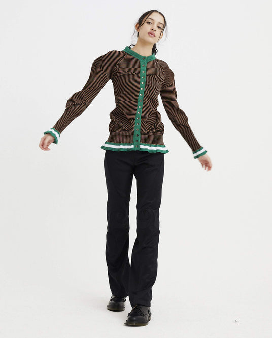 Topographic Cardigan - Brown / Green WOMENS KIKO KOSTADINOV