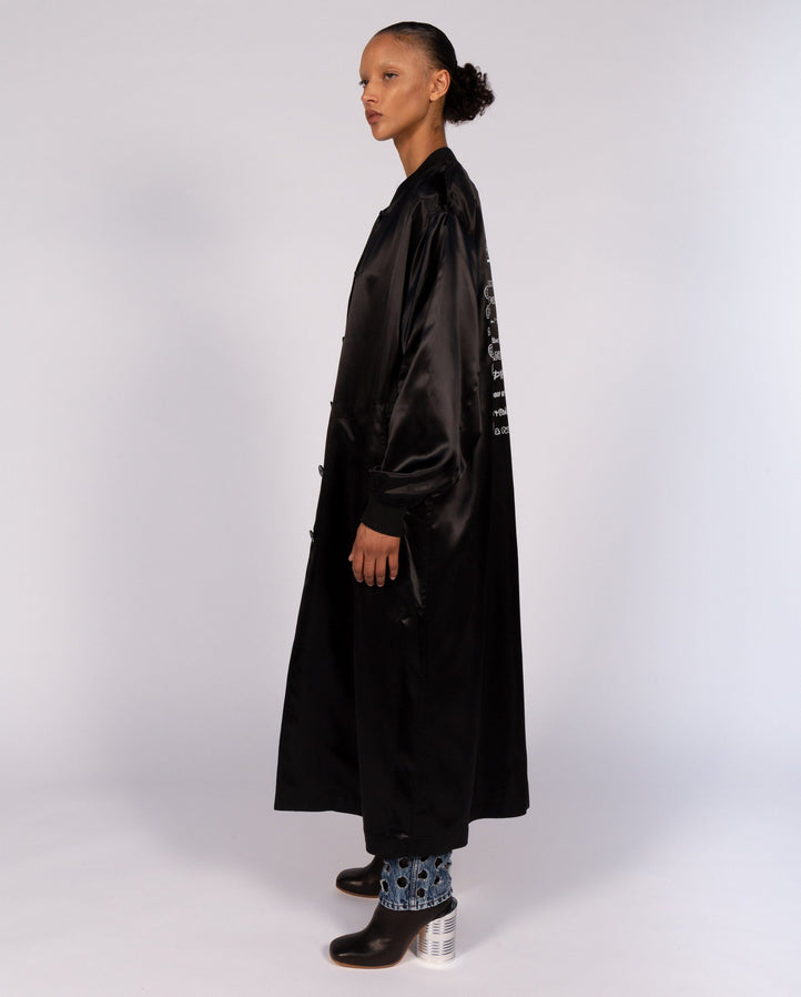 Trench Coat - Black WOMENS MM6 MAISON MARGIELA